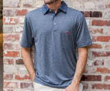 Navy | Rutledge Heather Performance Polo