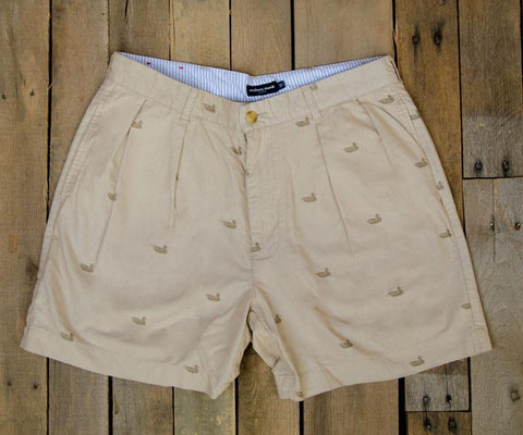 "Oxford Regatta Short - 6"" Pleated"