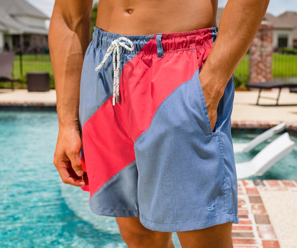 2da902a5a7 Dockside Swim Trunk - Brigade Stripe — Southern Marsh Collection