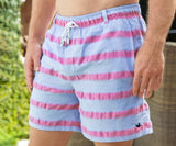 Light Blue Cruiser Stripe | Dockside Swim Trunk | Cruiser Stripe | Swim Shorts