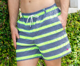 Navy Cruiser Stripe | Dockside Swim Trunk | Cruiser Stripe | Front
