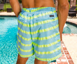 Antigua Blue Cruiser Stripe | Dockside Swim Trunk | Cruiser Stripe | Swim Shorts