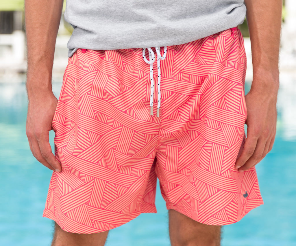 Dockside Swim Trunk - Fractured Lines
