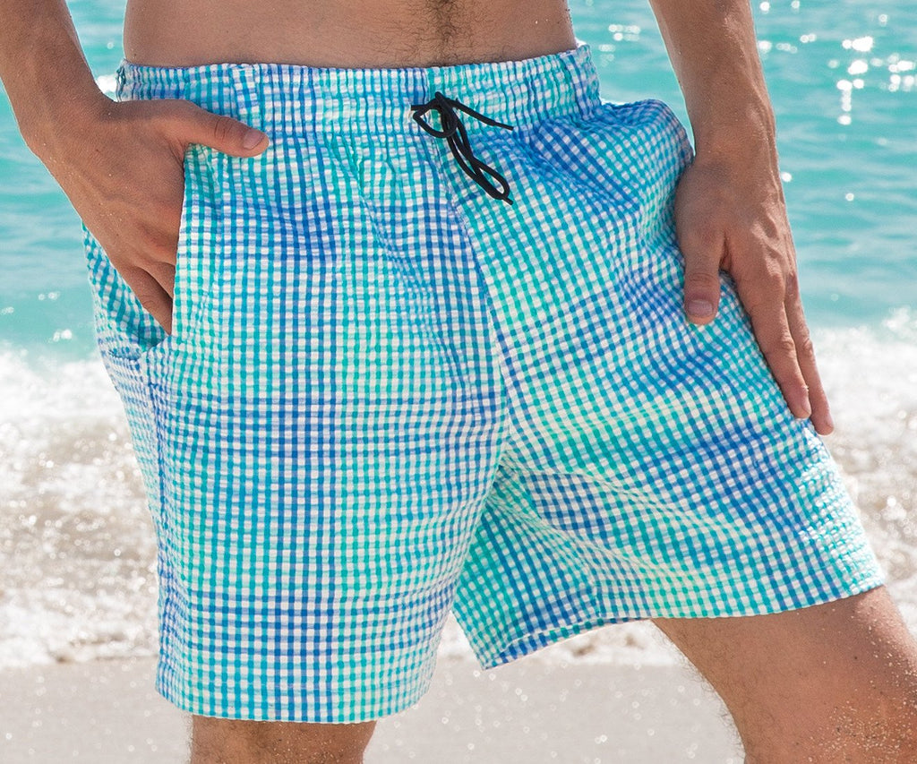 02b8b42aeb Dockside Swim Trunk - Seersucker Gingham — Southern Marsh Collection