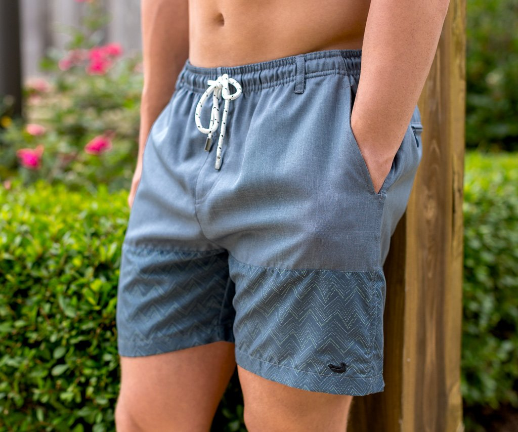 Navy | Dockside Swim Trunk | Maldives Chambray | Swim Shorts