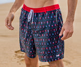 Navy and  Red | Dockside Swim Trunk | Paddles | Swim Shorts