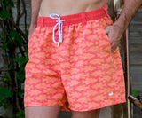 Strawberry Fizz and Tangerine | Dockside Swim Trunk | School's Out | Swim Shorts