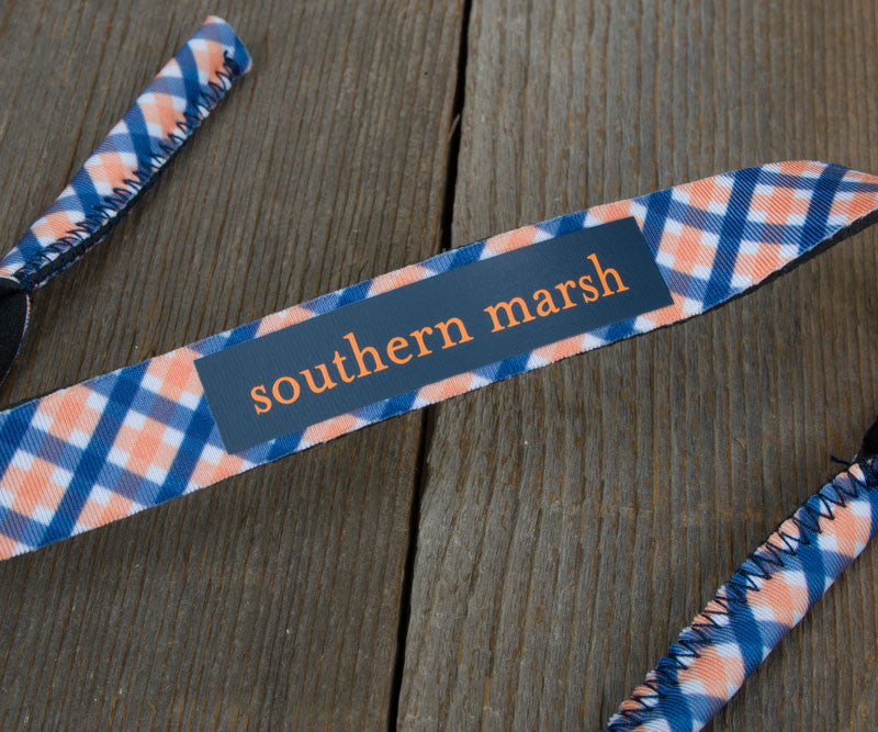 Gingham - Navy and Orange