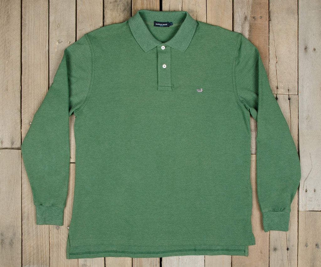 Stonewall Heather Polo - Long Sleeve