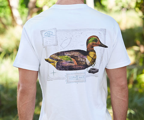 Vintage Decoy Green Winged Teal Tee