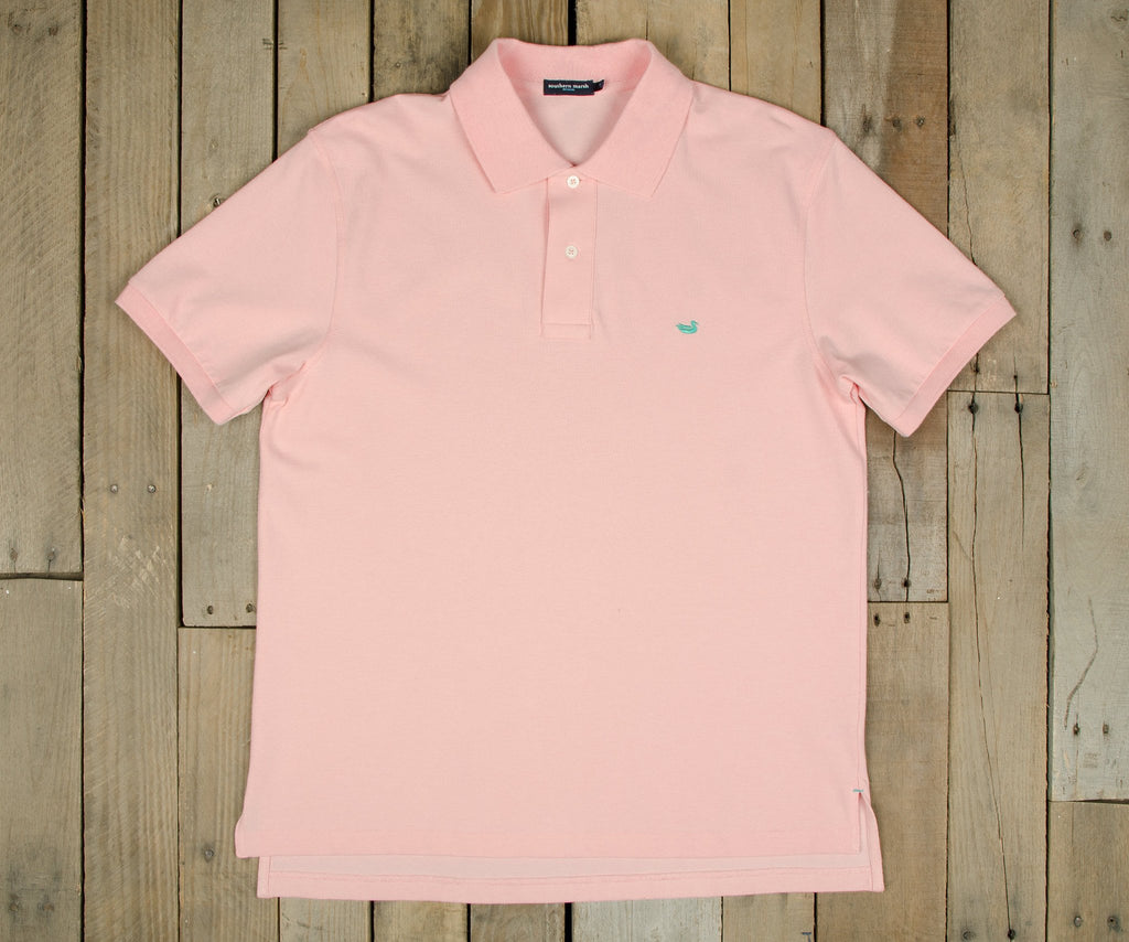 Dogwood Pink with Mint Green Duck | Stonewall Polo