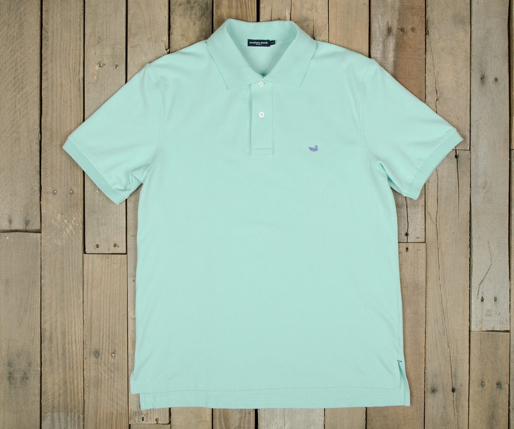 Ocean Green with Wharf Purple Duck | Stonewall Polo