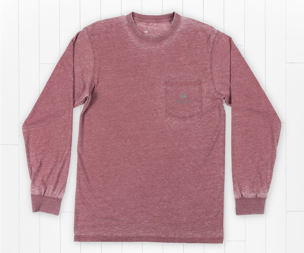 SEAWASH Crimson | SEAWASH™ Tee | Pond | Long Sleeve | Front