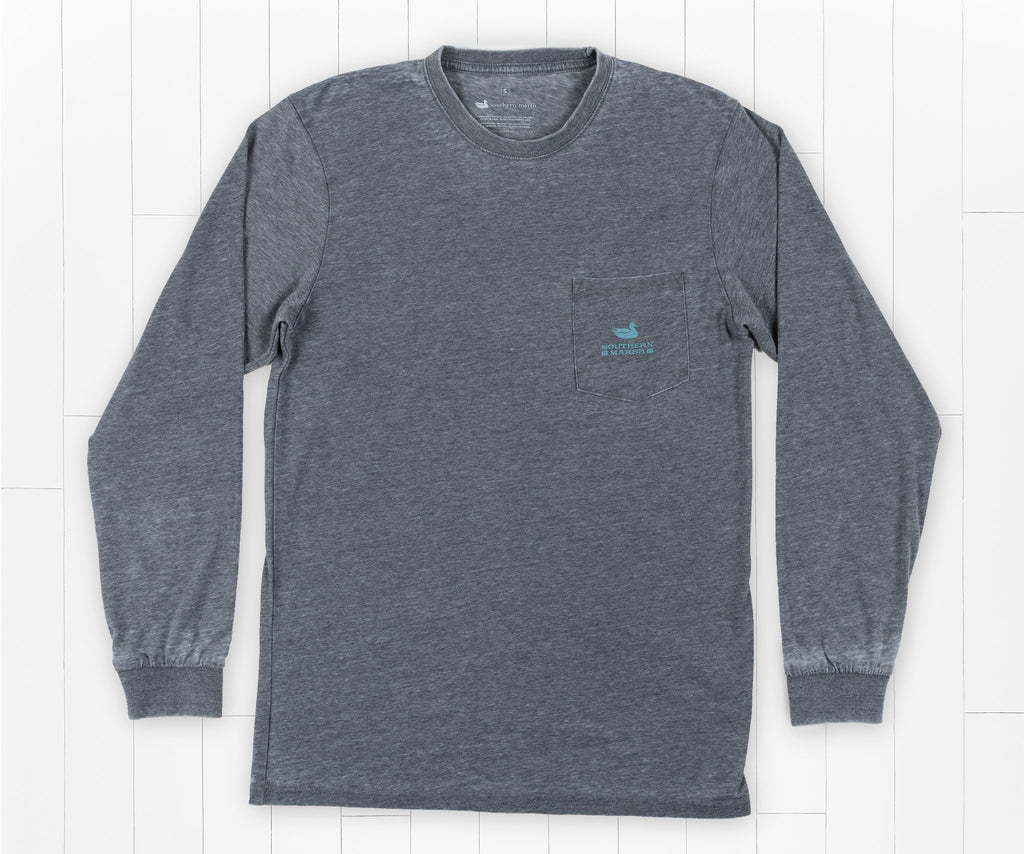 SEAWASH Midnight Gray | SEAWASH™ Tee | Pond | Long Sleeve | Front