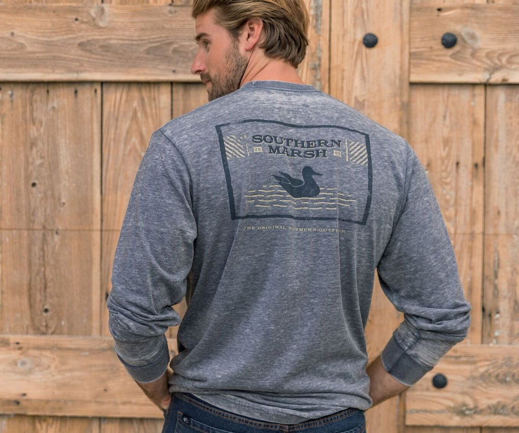 SEAWASH Washed Navy | SEAWASH™ Tee | Pond | Long Sleeve