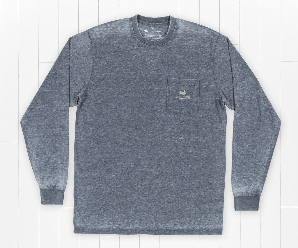 SEAWASH Washed Navy | SEAWASH™ Tee | Pond | Long Sleeve | Front