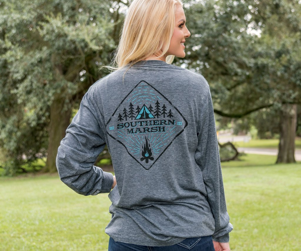 SEAWASH Midnight Gray | SEAWASH™ Tee | Tent | Long Sleeve