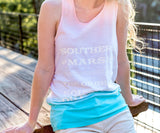 White and Mint | Summer Sun Tank