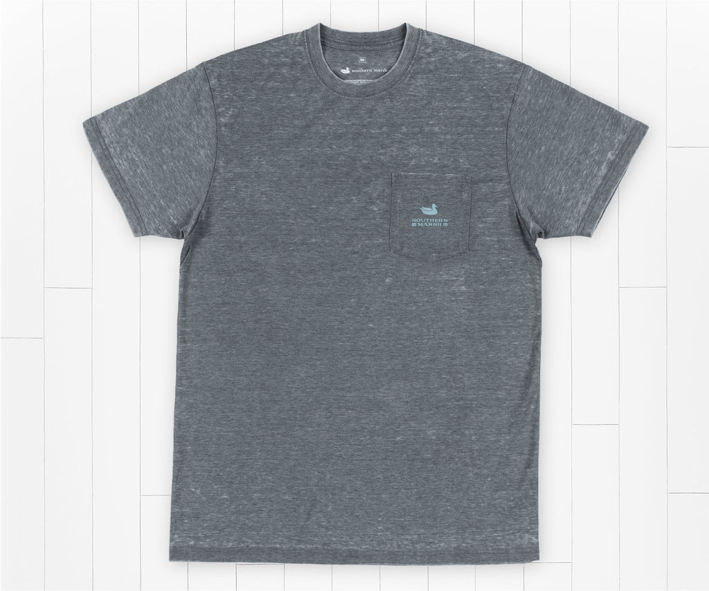 SEAWASH Midnight Gray | SEAWASH™ Tee | Pond | Short Sleeve | Front