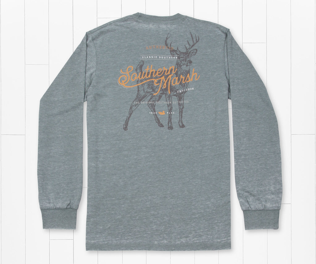 Burnt Sage | SEAWASH™ Tee | Deer | Long Sleeve T-Shirt | Front