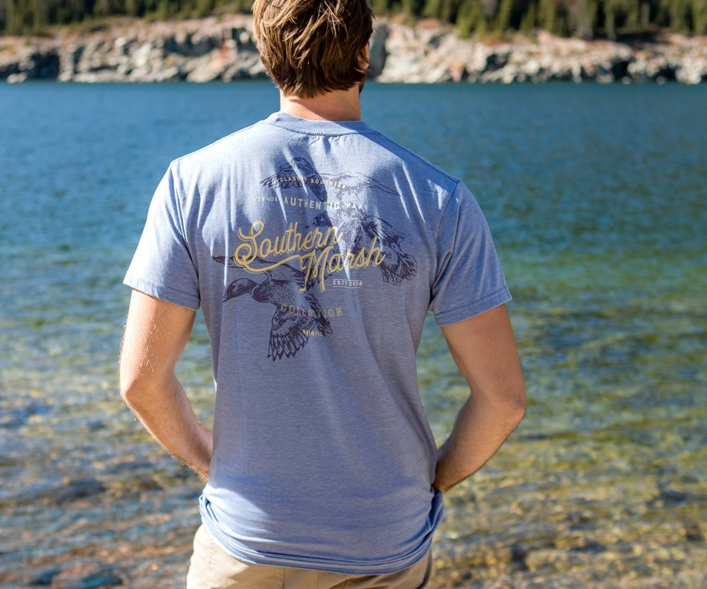 SEAWASH Washed Blue | SEAWASH™ Tee | Duck Trio | Short Sleeve T-Shirt