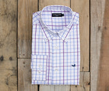 White and Lavender | Catahoula Tattersall Dress Shirt | Long Sleeve