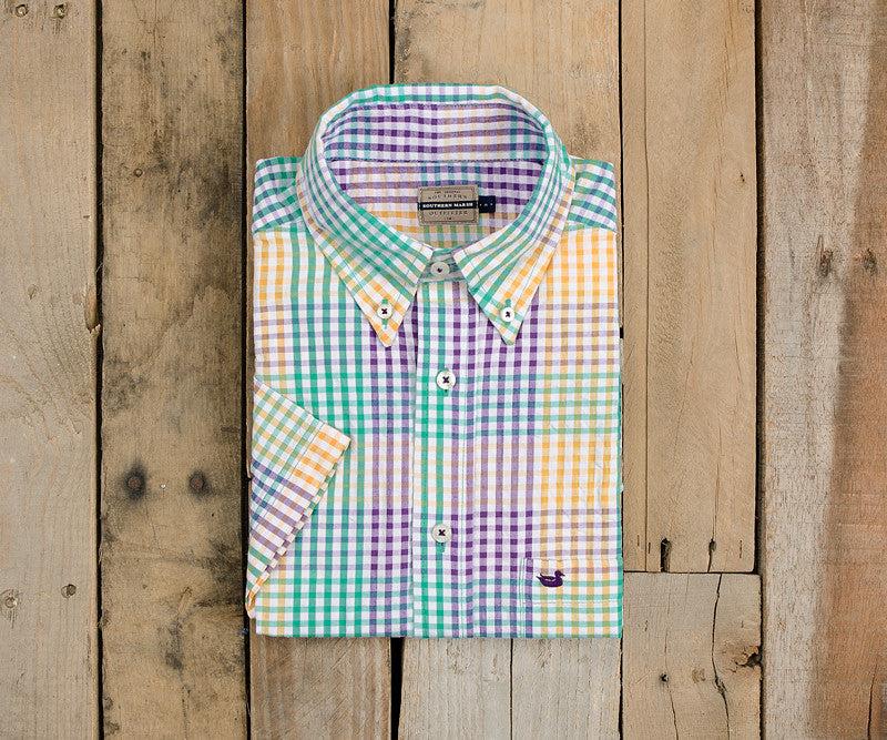 Everett Gingham Dress Shirt - Short Sleeve