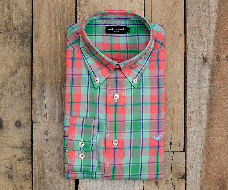 Hudson Plaid Dress Shirt