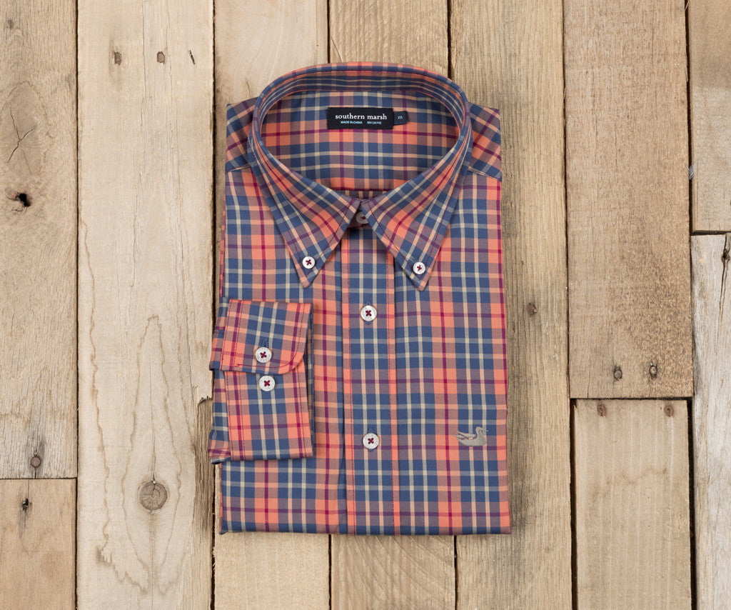 King Windowpane Dress Shirt