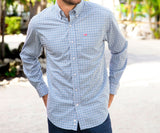 Navy    and    Pink | Mattox Check Dress Shirt | Lifestyle