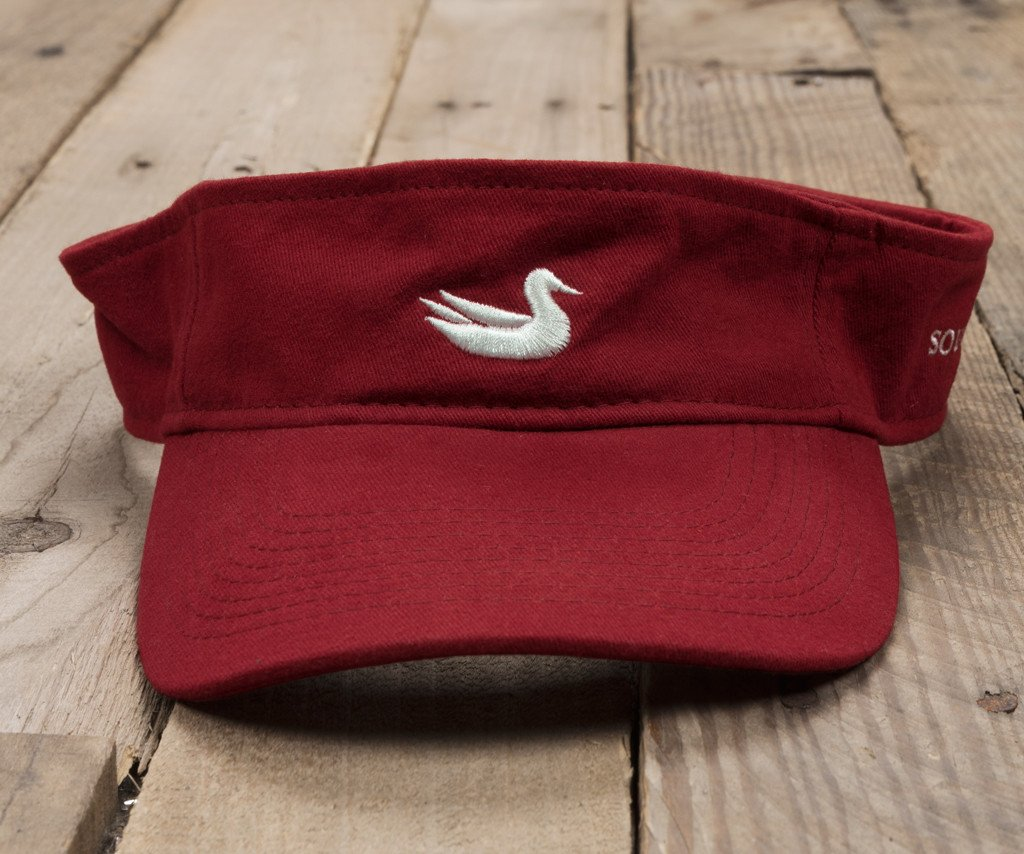 Maroon with White Duck | Signature Visor