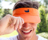 Orange Visor with Navy Duck