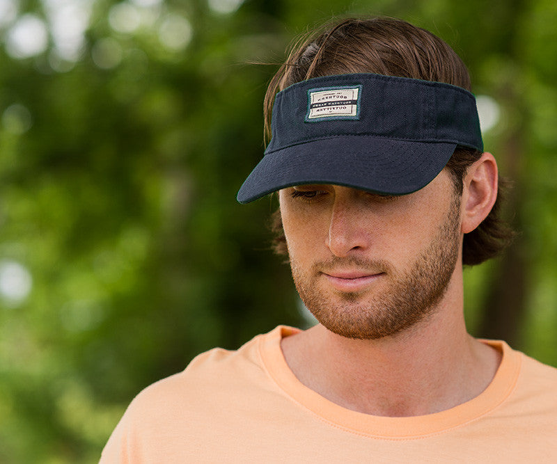 Navy Visor with Tag