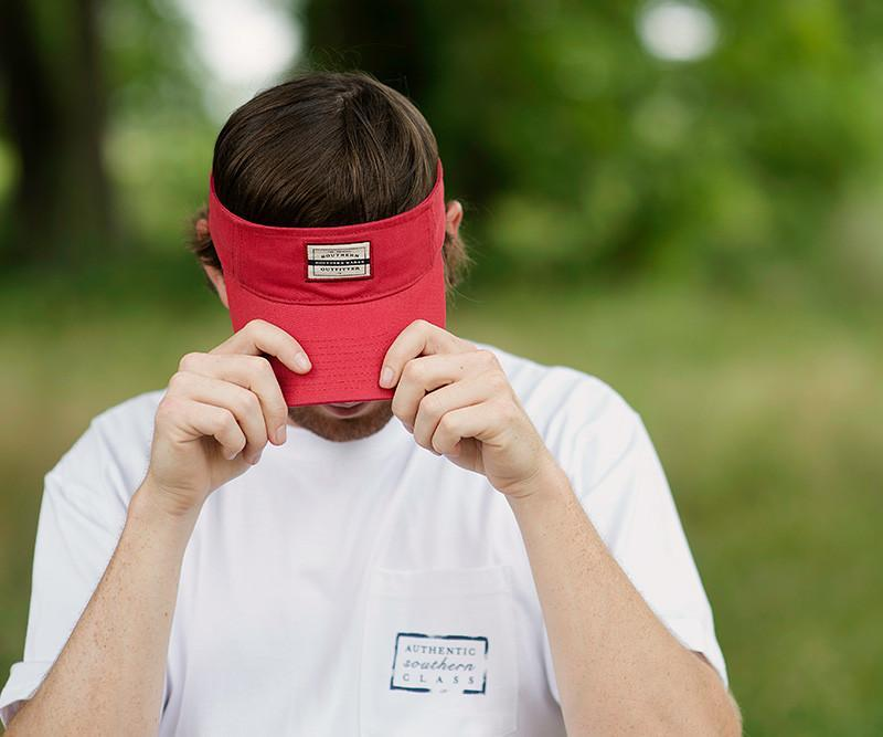 Vintage Red Visor with Tag