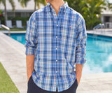 Navy and Blue Plaid