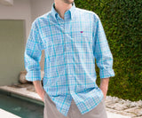 Teal and Blue Brevard | Brevard Plaid Dress Shirt