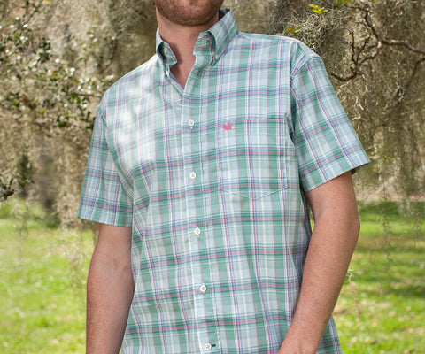 Catawba Plaid Dress Shirt - Short Sleeve