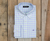 Evans Gingham Dress Shirt | Lilac Lime and Teal