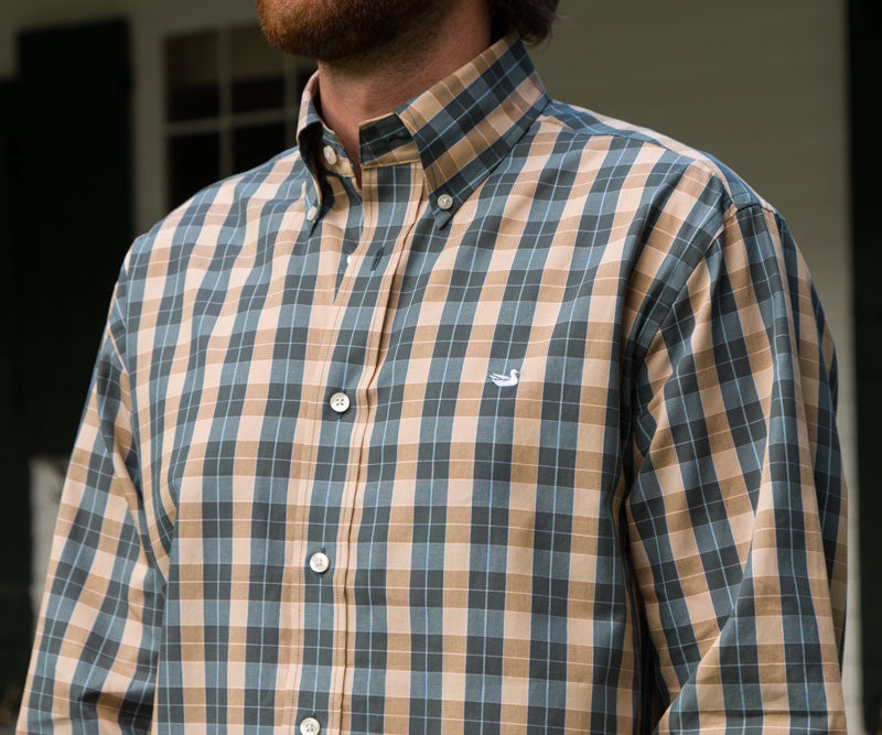 Southern marsh collection exchange check dress shirt for Southern marsh dress shirts on sale