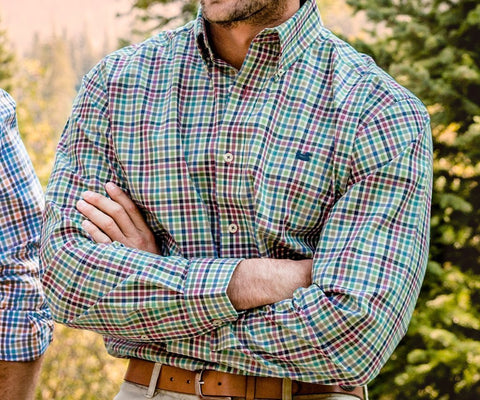 Juban Check Dress Shirt - Wrinkle-Free