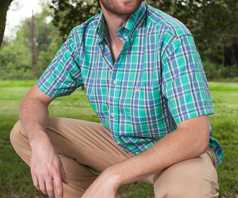 Natahala Plaid Dress Shirt - Short Sleeve