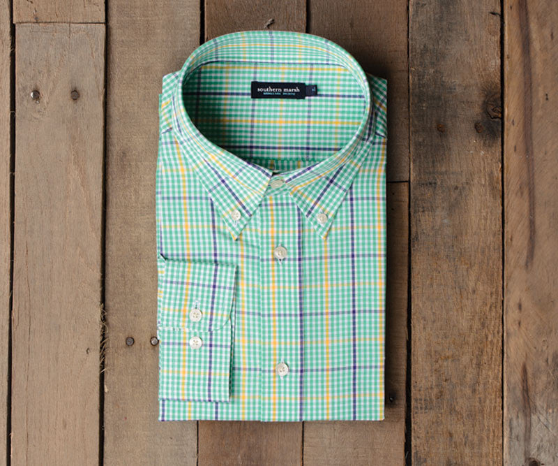 Upperline Grid Dress Shirt - Wrinkle Free