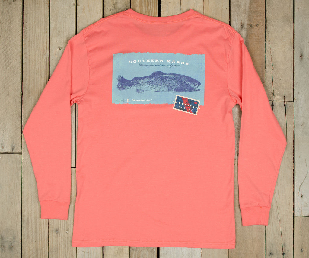 Expedition Series Tee - Rainbow Trout - Long Sleeve