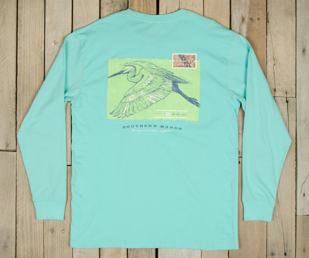 Expedition Series Tee - Heron - Long Sleeve