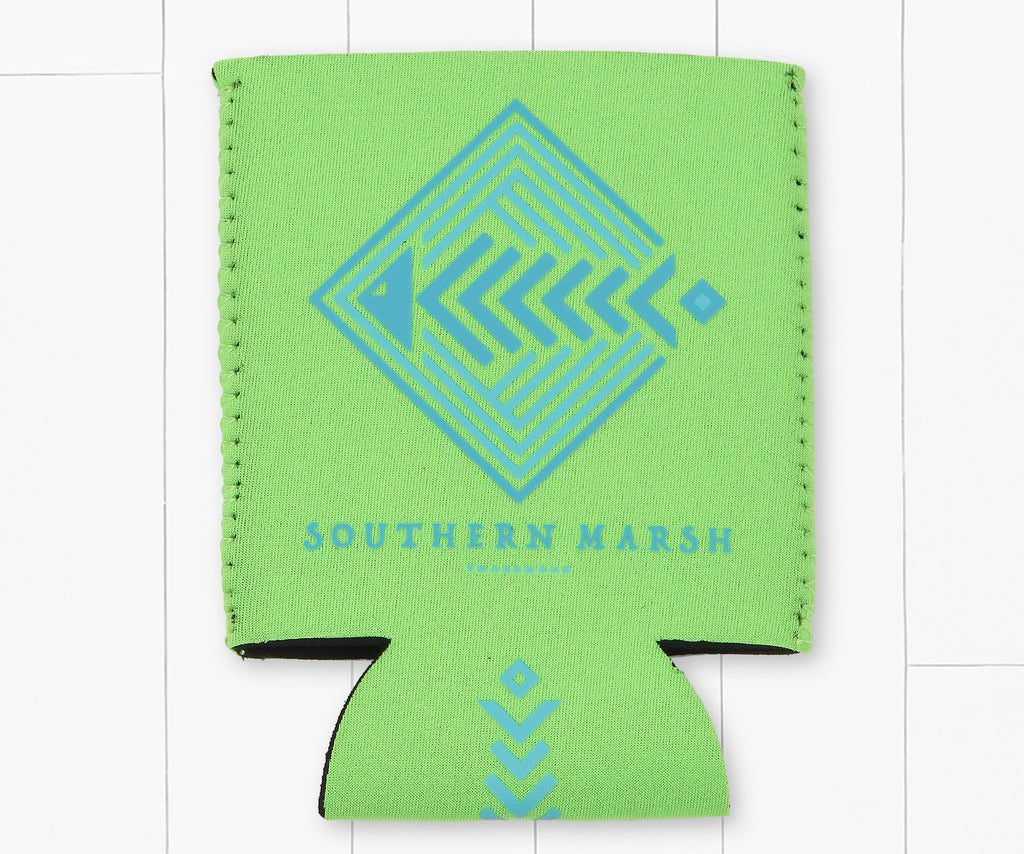 Neon  Green | Aztec Catch Coozie | Back