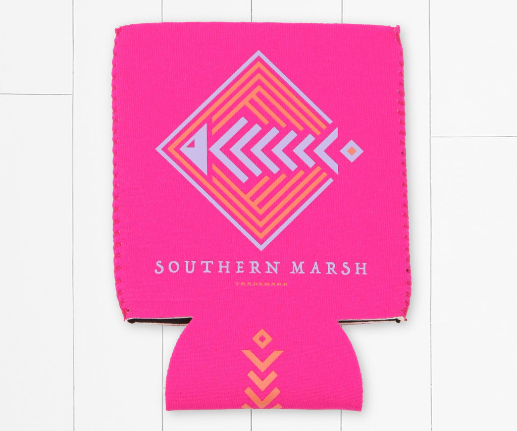 Neon  Pink | Aztec Catch Coozie | Back
