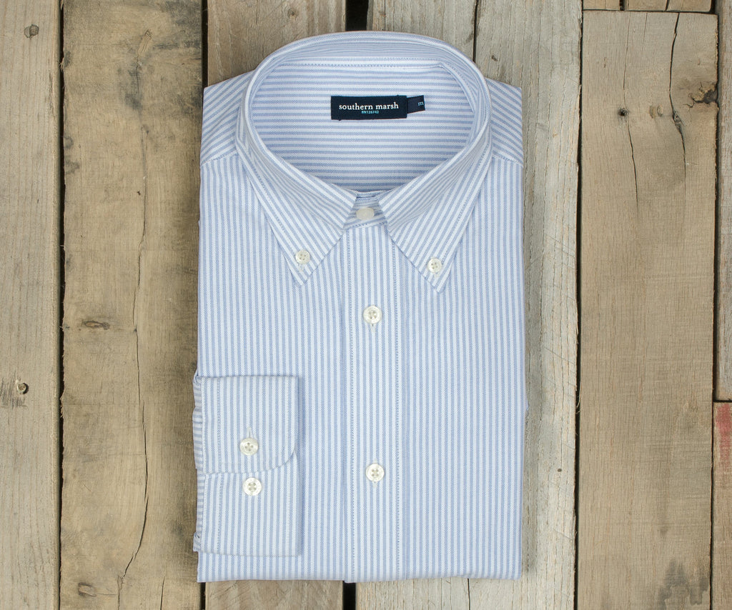 Pintail Oxford Striped Dress Shirt