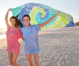 Lilac Lime and Teal Tie Dye | Tie-Dye Beach Towel