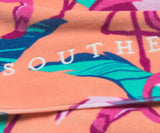 Peach Flamingo | Flamingo Beach Towel | Detail