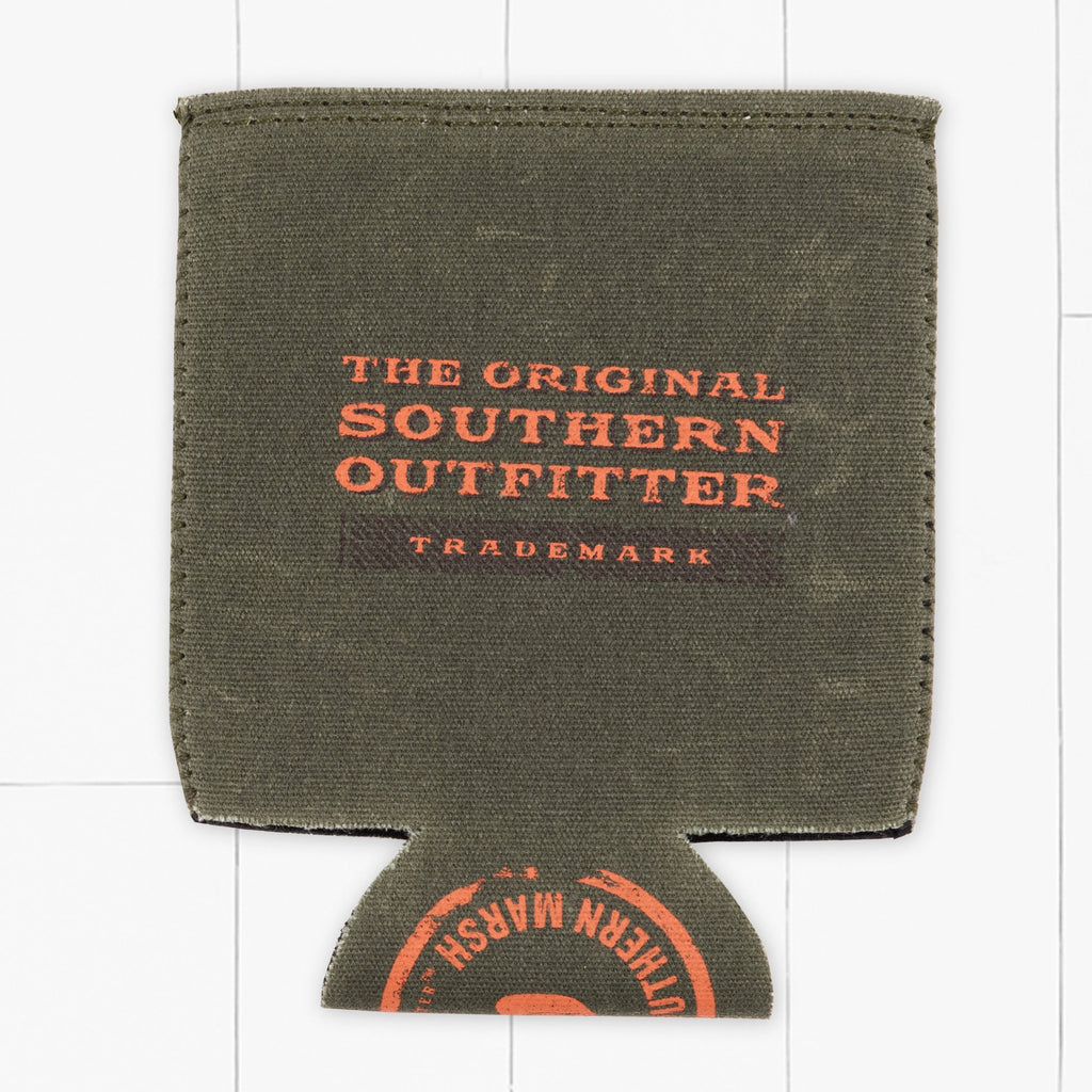 Dark      Green | Waxed Cotton Coozie